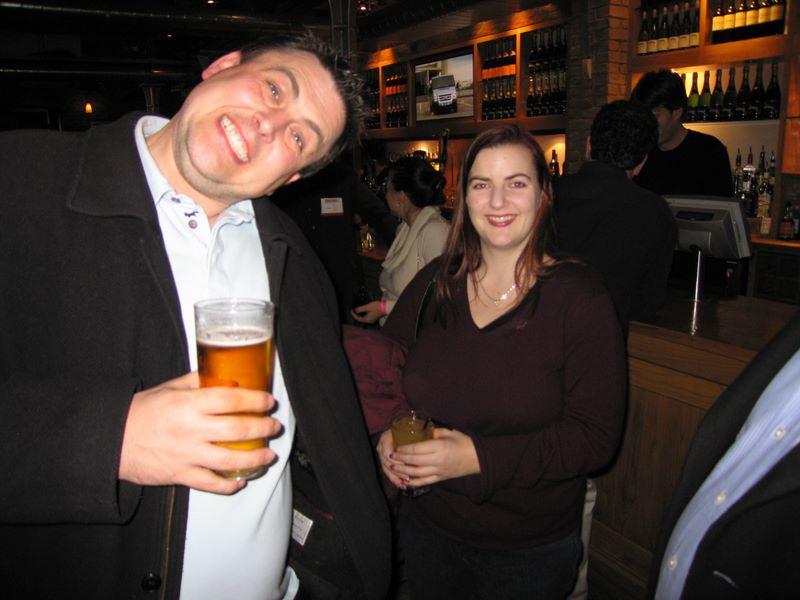 Jen Slegg and Dave Naylor